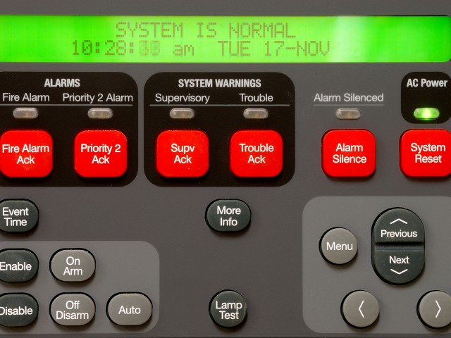Supervisory Fire Alarm panel at the new public safety building in Roseburg Oregon
